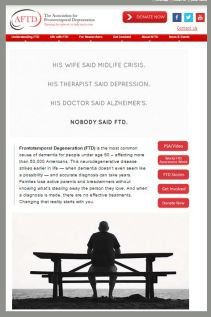 The New York Times includes a full-page ad to raise FTD awareness